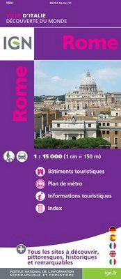 ROME 1:8.000 -IGN DECOUVERTE DES VILLES DU MONDE