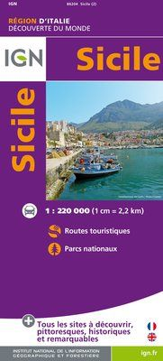 SICILE 1:220.000 -IGN DECOUVERTE DES REGIONS DU MONDE