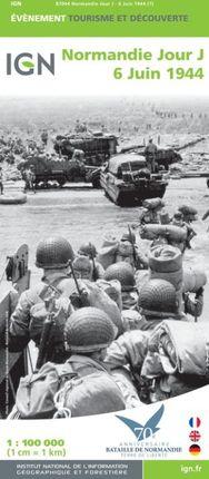 NORMANDIE JOUR J 6 JUIN 1944 1:100.000 -IGN