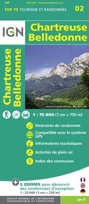 CHARTREUSE BELLEDONNE 1:75.000 -TOP 75 IGN