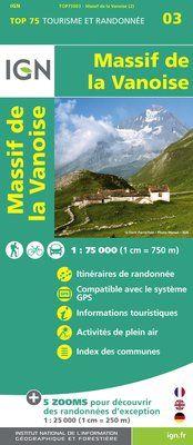MASSIF DE LA VANOISE 1:75.000 -TOP 75 -IGN