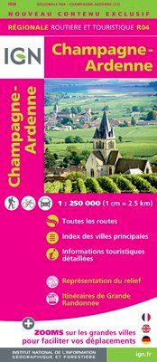 R04 CHAMPAGNE-ARDENNE 1:250.000 -IGN REGIONALE