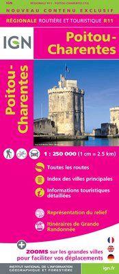 R11 POITOU-CHARENTES 1:250.000 -IGN REGIONALE