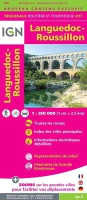 R17 LANGUEDOC-ROUSSILLON 1:250.000 -IGN REGIONALE
