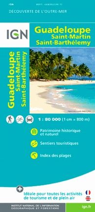 GUADELOUPE 1:80.000 -OUTRE MER IGN