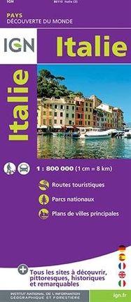 ITALIE 1:800.000 -IGN DECOUVERTE DES PAYS DU MONDE