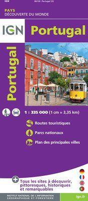 PORTUGAL 1:335.000 -IGN DECOUVERTE DES PAYS DU MONDE