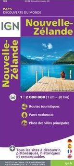 NOUVELLE-ZELANDE 1:2.000.000 -IGN DECOUVERTE DU MONDE
