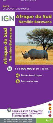 AFRIQUE DU SUD, NAMIBIE, BOTSWANA 1:2.000.000 -IGN DECOUVERTE DES PAYS DU MONDE