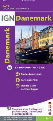 DANEMARK 1:300.000 -DÉCOUVERTE DES PAYS DU MONDE -IGN