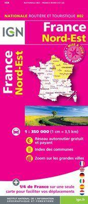 802 FRANCE NORD-EST 1:350.000 -CARTES DE FRANCE IGN