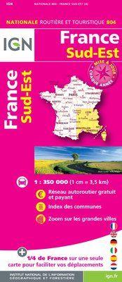 804 FRANCE SUD-EST 1:350.000 -CARTES DE FRANCE IGN