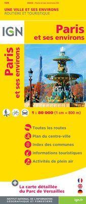 PARIS ET SES ENVIRONS 1:80.000 -IGN
