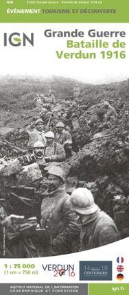 BATAILLE DE VERDUN 1916 1:75.000 -IGN