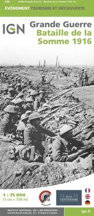 BATAILLE DE LA SOMME 1916 1:75.000 -IGN