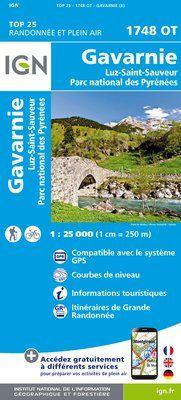 1748 OT GAVARNIE LUZ-ST-SAUVEUR 1:25.000 -TOP 25 IGN