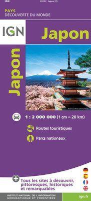 JAPON 1:2.000.000 -IGN DECOUVERTE DES PAYS DU MONDE