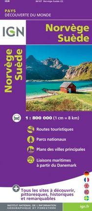 NORVÈGE / SUÈDE 1:800.000 -DÉCOUVERTE DES PAYS DU MONDE -IGN