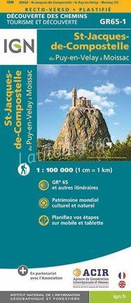 PUY-EN-VELAY A MOISSAC 1:100.000 ST-JACQUES-DE-COMPOSTELLE -IGN