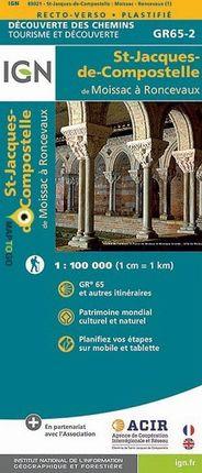 MOISSAC A RONCEVAUX 1:100.000 ST-JACQUES-DE-COMPOSTELLE -IGN
