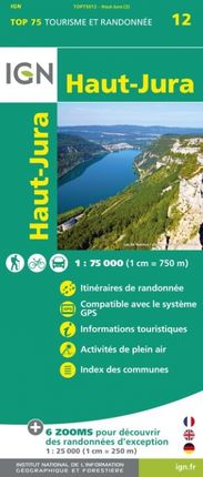 HAUT-JURA 1:75.000 -TOP 75 -IGN