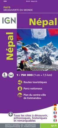 NEPAL 1:750.000 -DÉCOUVERTES DES PAYS DU MONDE -IGN
