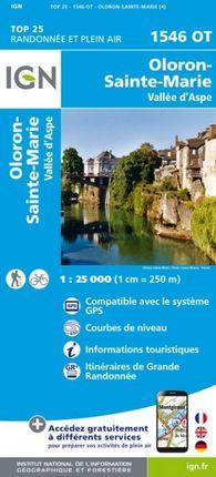 1546 OT OLORON-STE-MARIE 1:25.000 -TOP 25 -IGN