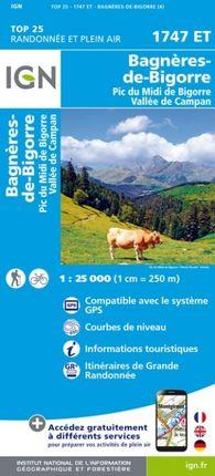 1747 ET BAGNÈRES-DE-BIGORRE 1:25.000 -TOP 25 -IGN