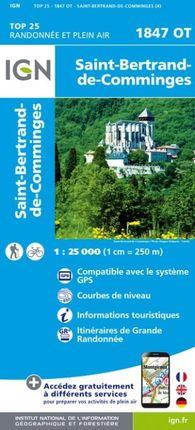 1847 OT SAINT-BERTRAND-DE-COMMINGES 1:25.000 -TOP 25 -IGN