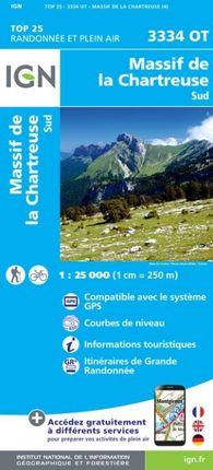 3334 OT MASSIF DE LA CHARTREUSE SUD 1:25.000 -TOP 25 -IGN
