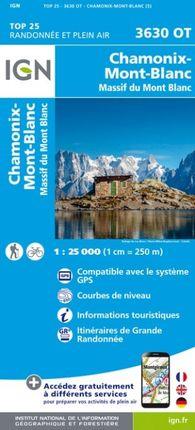 3630 OT CHAMONIX-MONT-BLANC 1:25.000 -TOP 25 -IGN