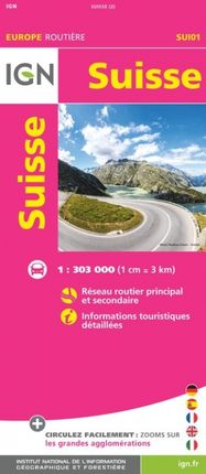 SUISSE 1:303.000 -EUROPE ROUTIÈRE -IGN