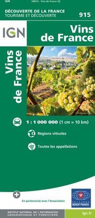 915 VINS DE FRANCE 1:1.000.000 -DÉCOUVERTE DE LA FRANCE -IGN