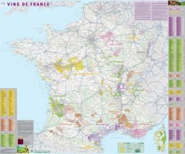 VINS DE FRANCE [MURAL PLASTIFICAT] 1:1.020.000 -IGN