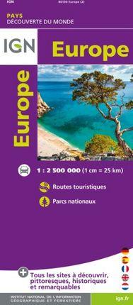 EUROPE 1:2.500.000 -DÉCOUVERTE DES PAYS DU MONDE -IGN