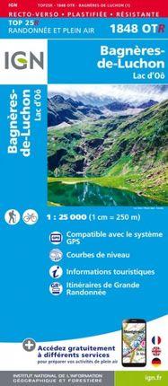 1848 OTR BAGNÈRES-DE-LUCHON 1:25.000 -TOP 25 RÉSISTANTE -IGN