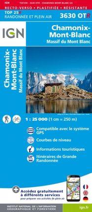 3630 OTR CHAMONIX / MONT-BLANC 1:25.000 -TOP 25 RÉSISTANTE -IGN