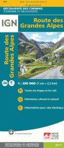 ROUTE DES GRANDES ALPES 1:220.000 -DÉCOUVERTE DES CHEMINS -IGN