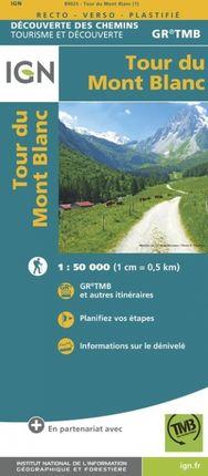 TOUR DU MONT BLANC 1:50.000 -DÉCOUVERTE DES CHEMINS -IGN