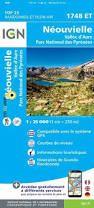 1748 ET NEOUVIELLE-VALLEE D'AURE 1:25.000 -TOP 25 IGN