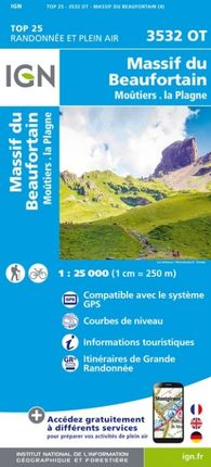 3532 OT MASSIF DU BEAUFORTAIN 1:25.000 -TOP 25 -IGN