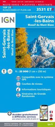 3531 ETR ST-GERVAIS-LES-BAINS 1:25.000 -TOP 25 RÉSISTANTE -IGN