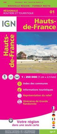 01 HAUTS-DE-FRANCE 1:250.000 -ROUTIER FRANCE RÉGIONALE -IGN