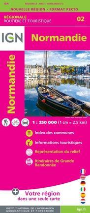 02 NORMANDIE 1:250.000 -ROUTIER FRANCE RÉGIONALE -IGN