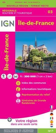 03 ILE-DE-FRANCE 1:250.000 -ROUTIER FRANCE RÉGIONALE -IGN