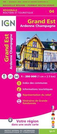04 GRAND EST (ARDENNE CHAMPAGNE) 1:250.000 -ROUTIER FRANCE RÉGIONALE -IGN