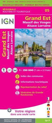 05 GRAND EST (MASSIF DES VOSGES / ALSACE LORRAINE) 1:250.000 -ROUTIER FRANCE RÉGIONALE -IGN