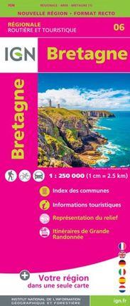 06 BRETAGNE 1:250.000 -ROUTIER FRANCE RÉGIONALE -IGN