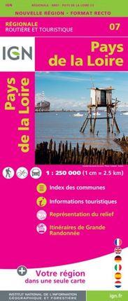 07 PAYS DE LA LOIRE 1:250.000 -ROUTIER FRANCE RÉGIONALE -IGN