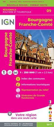 09 BOURGOGNE FRANCHE-COMTE 1:250.000 -ROUTIER FRANCE RÉGIONALE -IGN